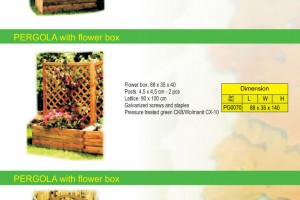 PERGOLA WITH FLOWER BOX